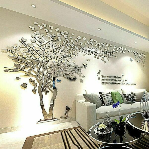US Large Family Tree Wall Decals 3D DIY Acrylic Wall Stickers Mural Home Decor