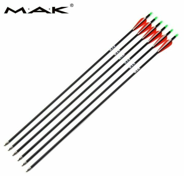 6Pcs 30#x27;#x27; Mixed OD 7.8mm Carbon Arrow SP500 for Archery Compound Bow Hunting US $15.99