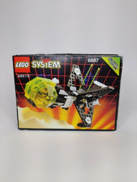 VINTAGE 1991 Lego 6887 Space Blacktron Allied Avenger Sealed NIB Retro Spaceship $235.00
