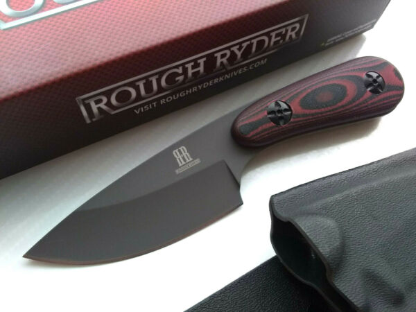 Red G10 Horizontal Conceal Carry Full Tang Fixed Blade Knife Kydex Sheath Small $31.95