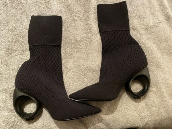 Burberry Sock Boots With Sculpted heel $500.00
