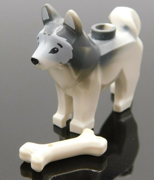 Lego Minifigure Husky Dog with bone city town animal $3.00