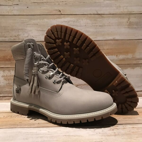 Timberland NEW Women#x27;s 6quot; Gray Boots A1UWF. SZ:10 $129.00
