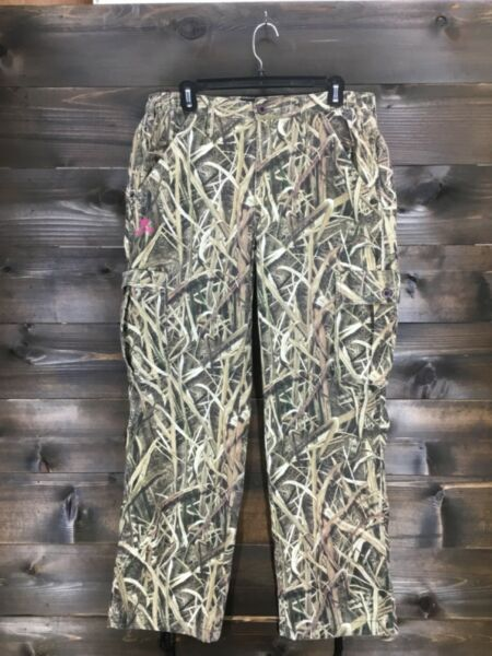 Mossy Oak Womens Camo Outdoor Hunting Pants Ladies Size L Large x 32 Excellent