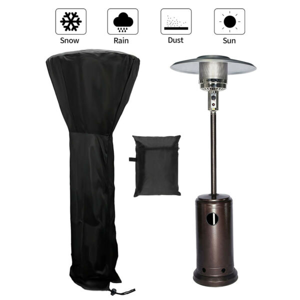 Waterproof Round Stand Up Patio Heater Cover Heavy Duty 210D 89in 94in