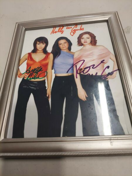 Charmed Cast X3 Hand Signed 8x10 Photo w Holo COA Milano Combs McGowan
