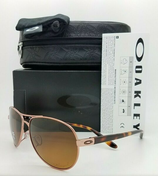 NEW Oakley Feedback sunglasses Bronze Gradient Polarized 4079 14 AUTHENTIC $144.95