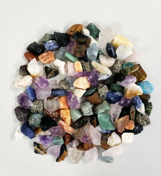 Raw Crystal Chunks 1quot; to 2quot; Assorted Crystals Bulk Mixed Lot Collection