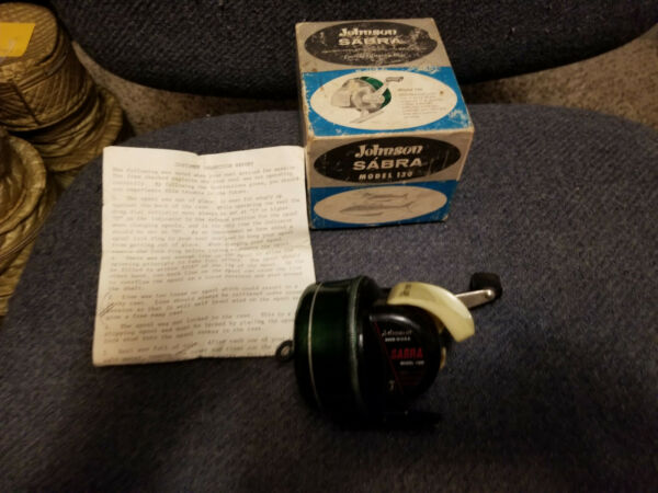 Vintage Johnson Sabra Model 130 A Fishing Reel Made In USA Works