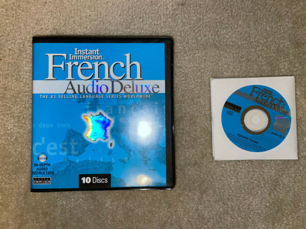 Instant Immersion Audio Deluxe French 10 Discs Audio CDs $6.00