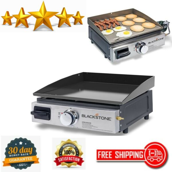 Table Top Grill 17quot; Portable Gas Griddle Propane Fueled Outdoor Cooking Camping