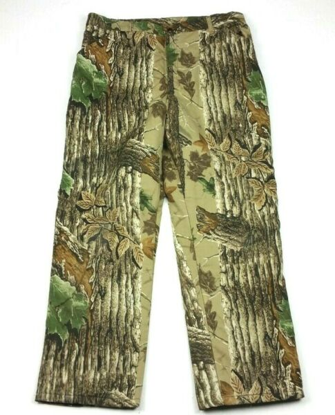 Vintage Duxbak Quilted Insulated Realtree Camo Hunting Pants 36 Regular