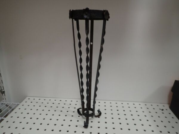 Vintage Antique Wrought Iron Planter stand 15quot; tall
