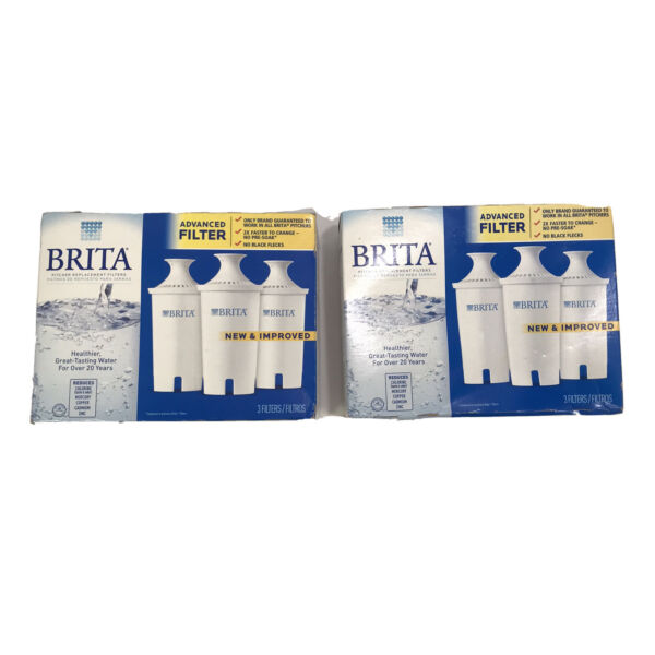 Brita Filter Replacements 3 Filter Per Box 6 Total. Works On Most Brita Systems