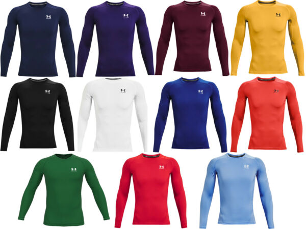 Under Armour Men#x27;s HeatGear Long Sleeve Compression Shirt 1361524 FREE SHIPPING $32.99