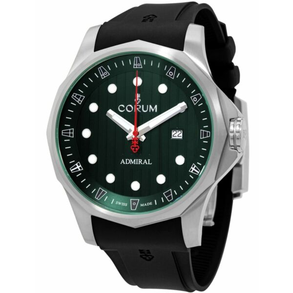 Corum A411 04174 Men#x27;s Admiral#x27;s Cup Green Automatic Watch $1559.40