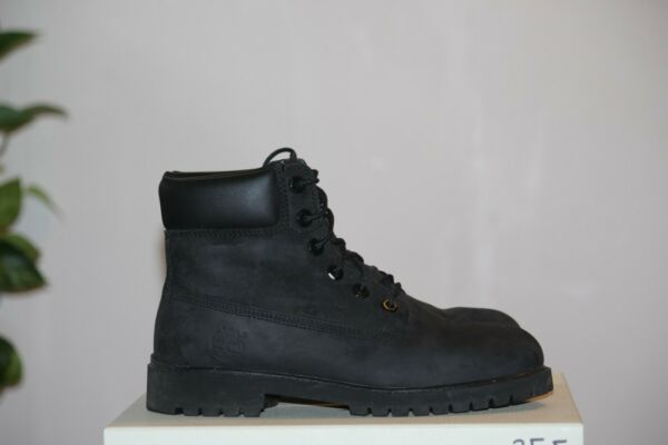 Black Premium 6quot; Timberland Work Boots size 6M $39.99