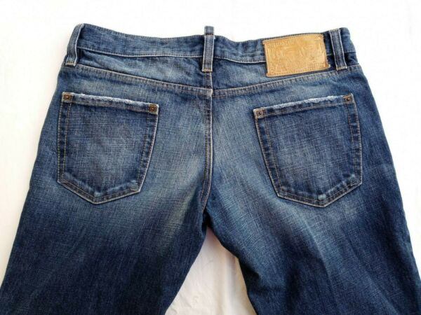 Dsquared2 Skater Men#x27;s Blue Jeans Euro Size 52 Made In Italy US Size 36 x 34 $129.99