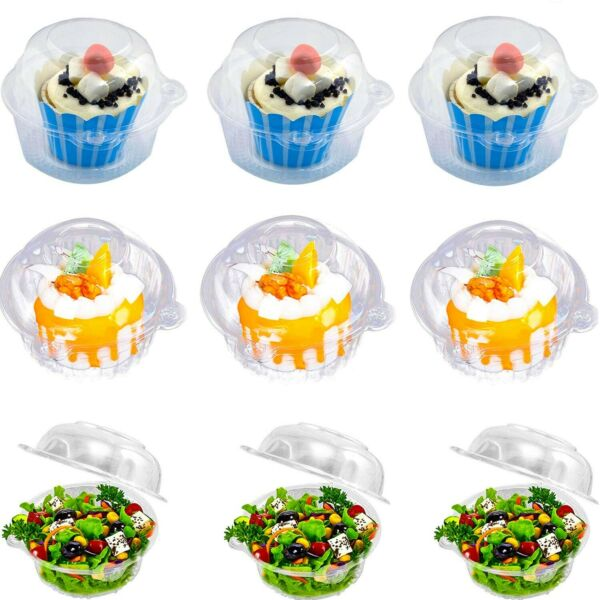 Individual Cupcake Container Single Compartment Cupcake Carrier Holder Box ...