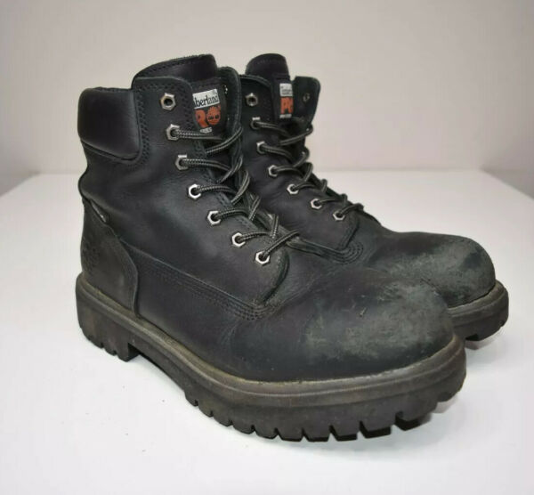 Timberland Pro Series Steel Toe Boots Mens 10.5 M Direct Attach 6 Inch 26038 $44.82