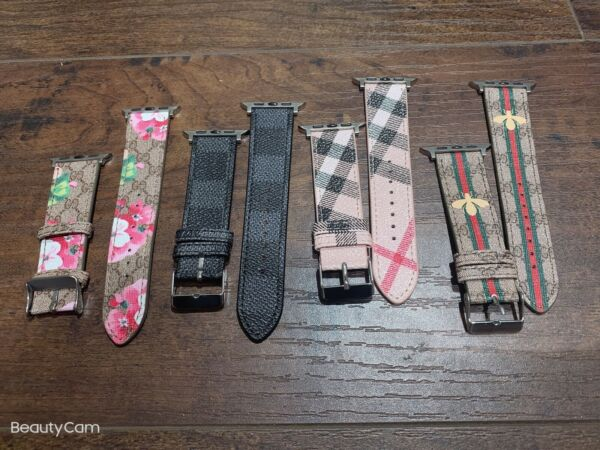 Luxury Apple Watch Band Leather Band 44 42 40 38mm 1 2 3 4 5 6 SE $13.99