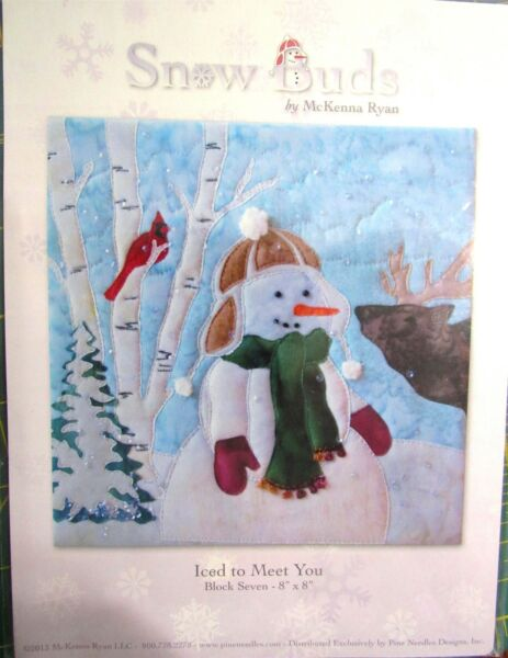 New Snow Buds Pattern by McKenna Ryan quot;Iced To Meet Youquot; Block 7 Snowman Moose