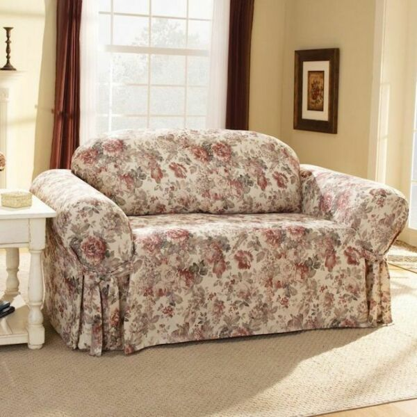 Sure Fit One Piece Sofa Slipcover CHLOE MULTI NEW Floral FURNITURE COVERS BASICS $169.99