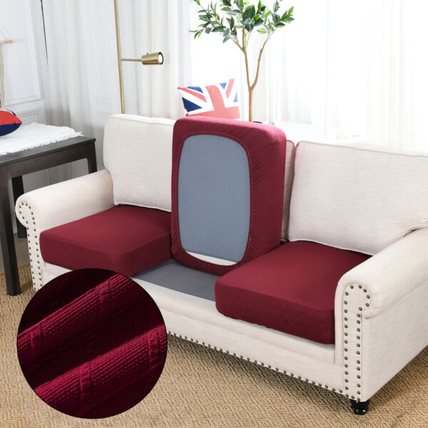 1 2 3 Seater Sofa Cushion Cover Couch Seat Slipcover Stretch Furniture Protector $12.99