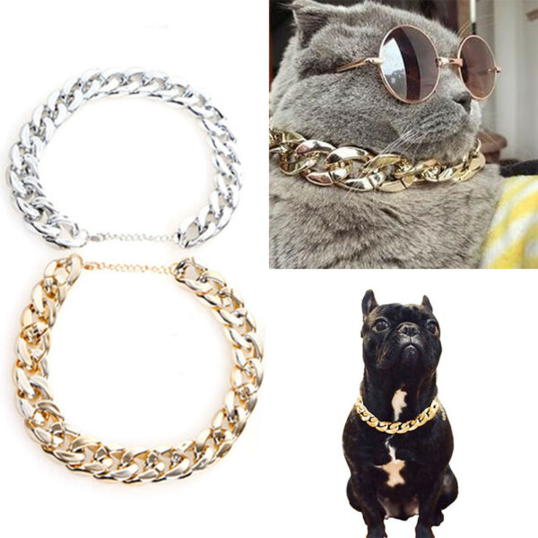 Cool Dog Collar Necklace For Pitbull Bulldog Necklace Accessories Chain Collar $4.99