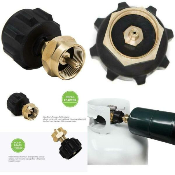 Propane Bottle Refill Adapter Kit 1 Lb Small Cylinder Hose 1lb To 20lb Gas Tank $21.61