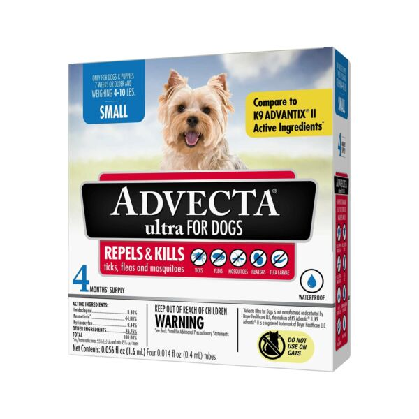 Advecta Ultra Flea amp; Tick Topical Treatment Flea amp; Tick Control for Dogs Small $26.54