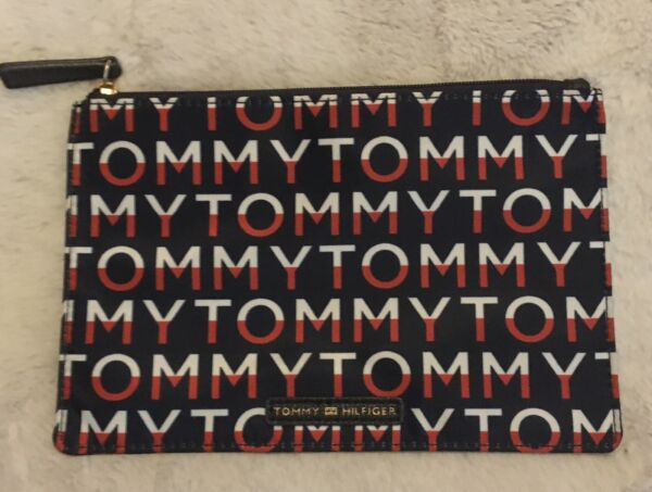 Tommy Hilfiger Red White Blue TOMMY Logo Corporate Cosmetic Travel Bag Organizer $8.00