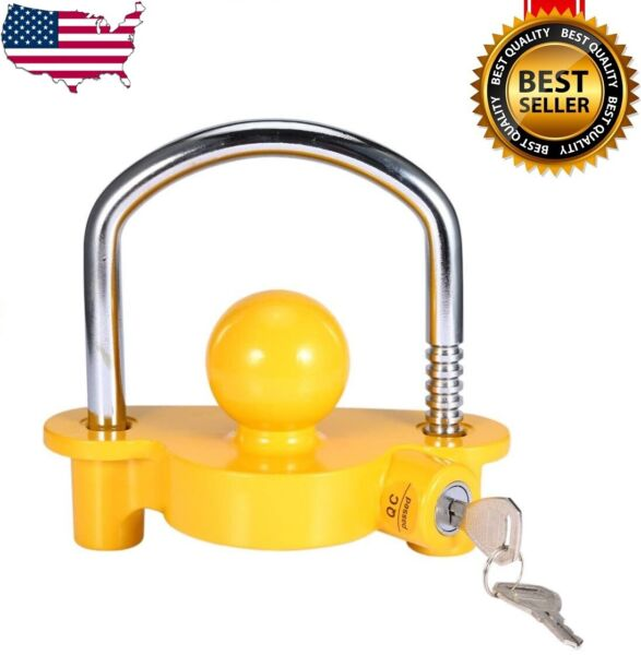 Hitch Lock Universal Coupler Hitch Trailer Lock fits 1 7 8quot; 2quot; and 2 5 16quot; HD $15.98