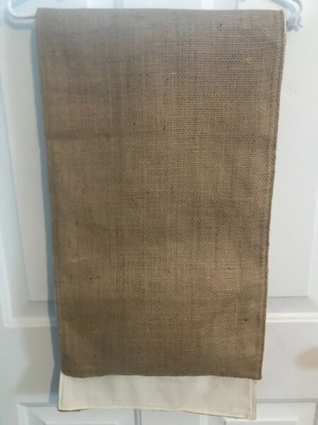 NATRUAL LINED BURLAP RUNNER FROM HOBBY LOBBY 13quot; X 104quot;