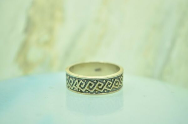 925 STERLING SILVER BEADED SQUARE SPIRAL CHAIN RING BAND SIZE 9 #25457 $16.59