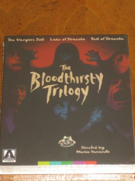 THE BLOODTHIRSTY TRILOGY Special Edition w Slipcover 2 Disc Blu Ray ARROW NEW $39.95