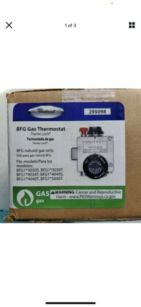 Whirlpool 295098 BFG Gas Thermostat Flame Lock Model 6910798 New Sealed $47.00