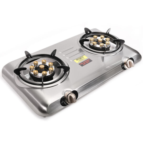 Portable Propane Gas Range Stove Dual Burner Camping Tail Gate Tailgating Stoves
