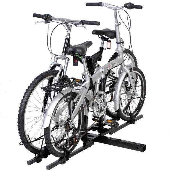 Double Bike Bicycle Carrier Hitch Receiver Heavy Duty 2#x27;#x27; Mount Rack Truck SUV $46.65