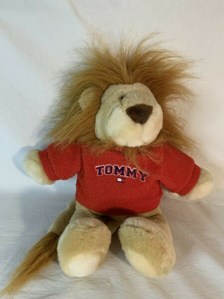 """11"""" Camp Tommy Hilfiger Plush Lion in Tommy Sweater with Tag 2001 Commonwealth $9.99"""