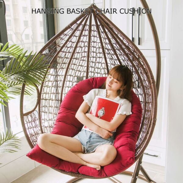 47x32quot; Hanging Basket Chair Lounge Cushions Egg Hammock Swing Chair Seat Pads US $31.31
