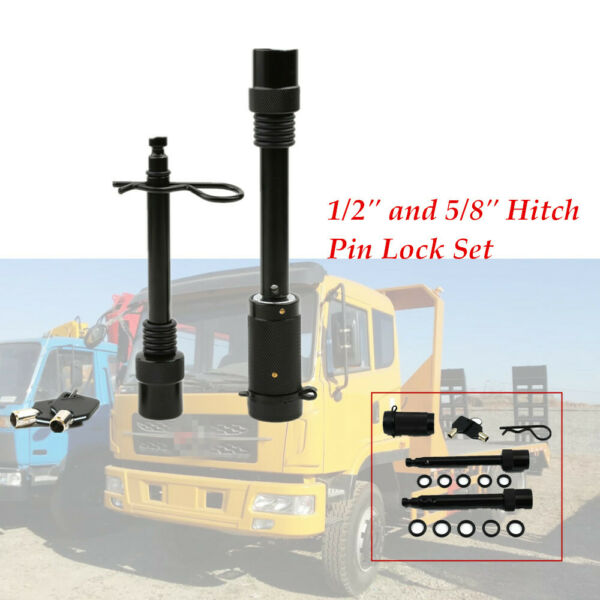 Heavy Hitch Lock Pin Set Locking Trailer Tow Receiver FIT 5 8quot; amp;1 2quot; O rings $42.99