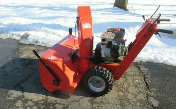 SIMPLICITY SNOW BLOWER 38 INCH ELECTRIC START USED LESS THAN TEN HOURS