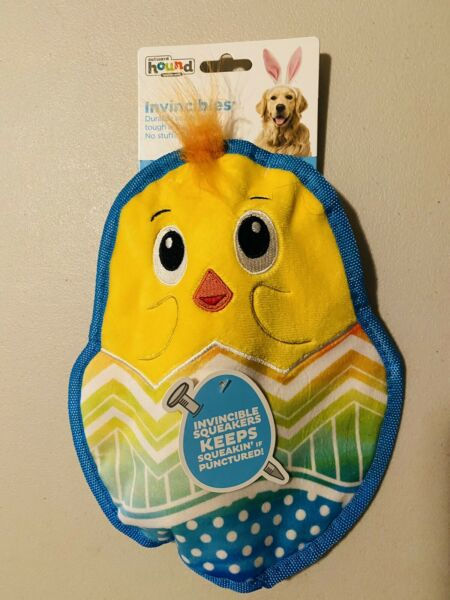NWT Outward Hound INVINCIBLES Large EASTER CHIC Dog Tough SQUEAKY Toy $6.49
