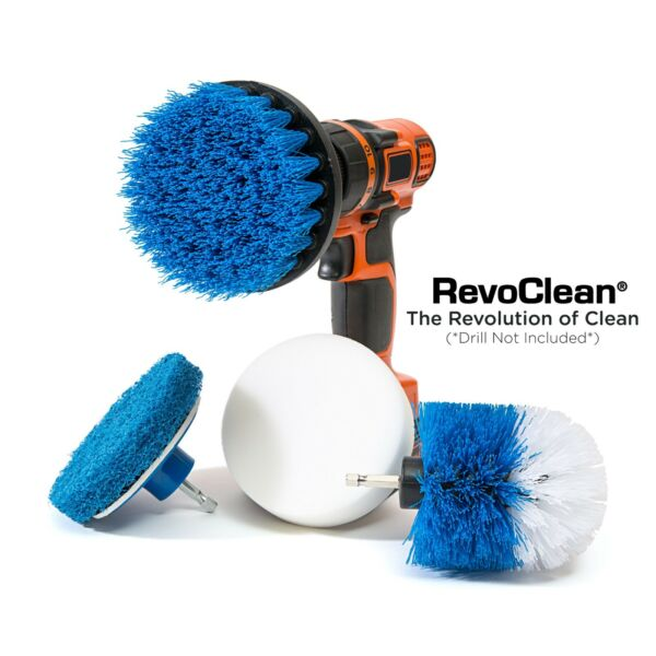 RevoClean® Ultimate 4 Piece Scrub Drill Brush Multi Purpose Deep Cleaning Kit