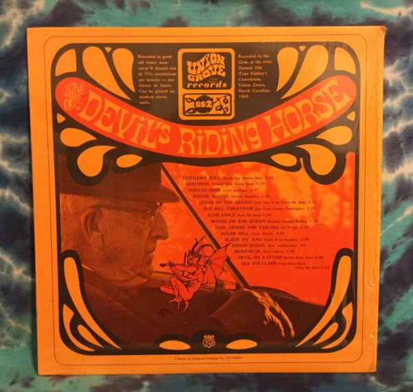 The Devil's Riding Horse LP Various Artists UNION GROVE Old Time BLUEGRASS