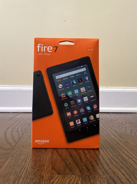 Amazon Fire 7 9th Generation 16GB Wi Fi 7in Black new