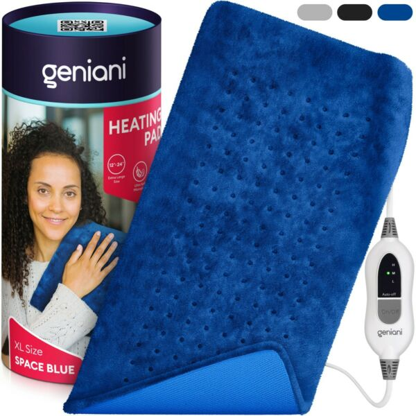 XL Electric Heating Pad for Back amp; Cramps Auto Shut Off Moist amp; Dry therapy $29.98