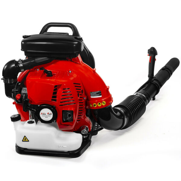 79.4CC 2 Cycle Gas Powered Leaf Blower Grass Yard Backpack Padded Strap EPA