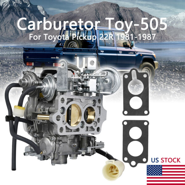 Carburetor TOY 505 Fit For TOYOTA PICKUP 22R Engine 1981 82 1983 84 1985 86 1987 $80.99